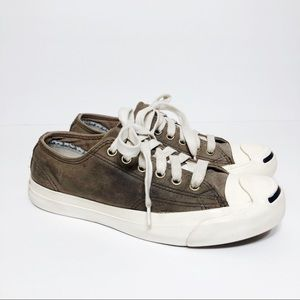 Converse Jack Purcell Lifestyle Brown Leather Shoe